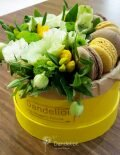 коробочка цветы макаруны